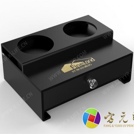 黑色磨砂亚加力纸巾盒
