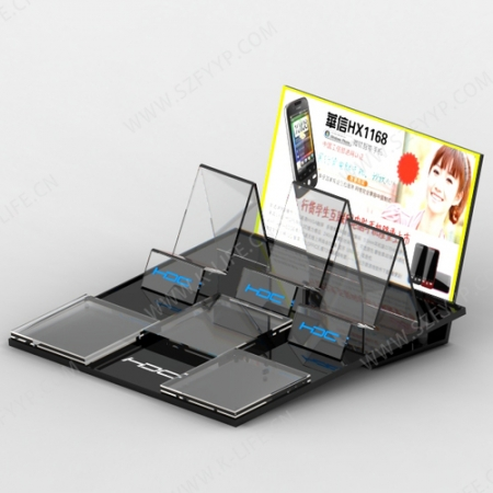 Acrylic mobile display rack