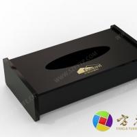 黑色磨砂亚克力纸巾盒