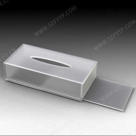 亚克力磨砂纸巾盒