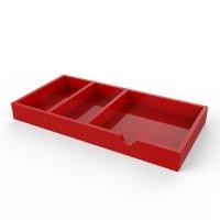 亚克力红色分格盒子