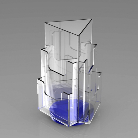 有机玻璃旋转资料架