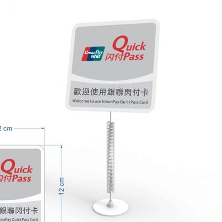 Acrylic advertising label